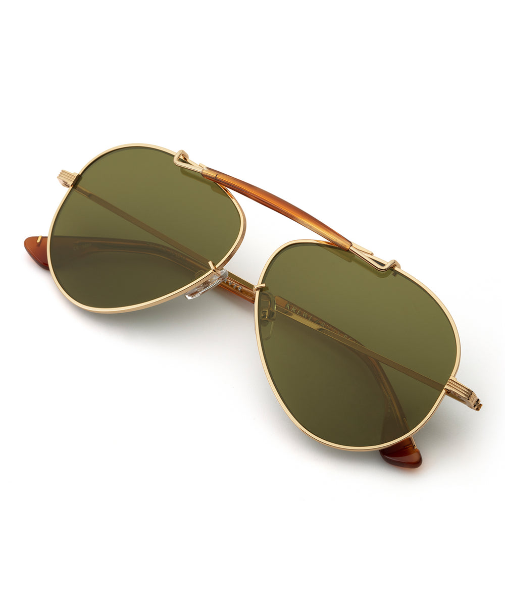 CARVER | 24K + Tobacco Polarized Handcrafted, Stainless Steel Sunglasses