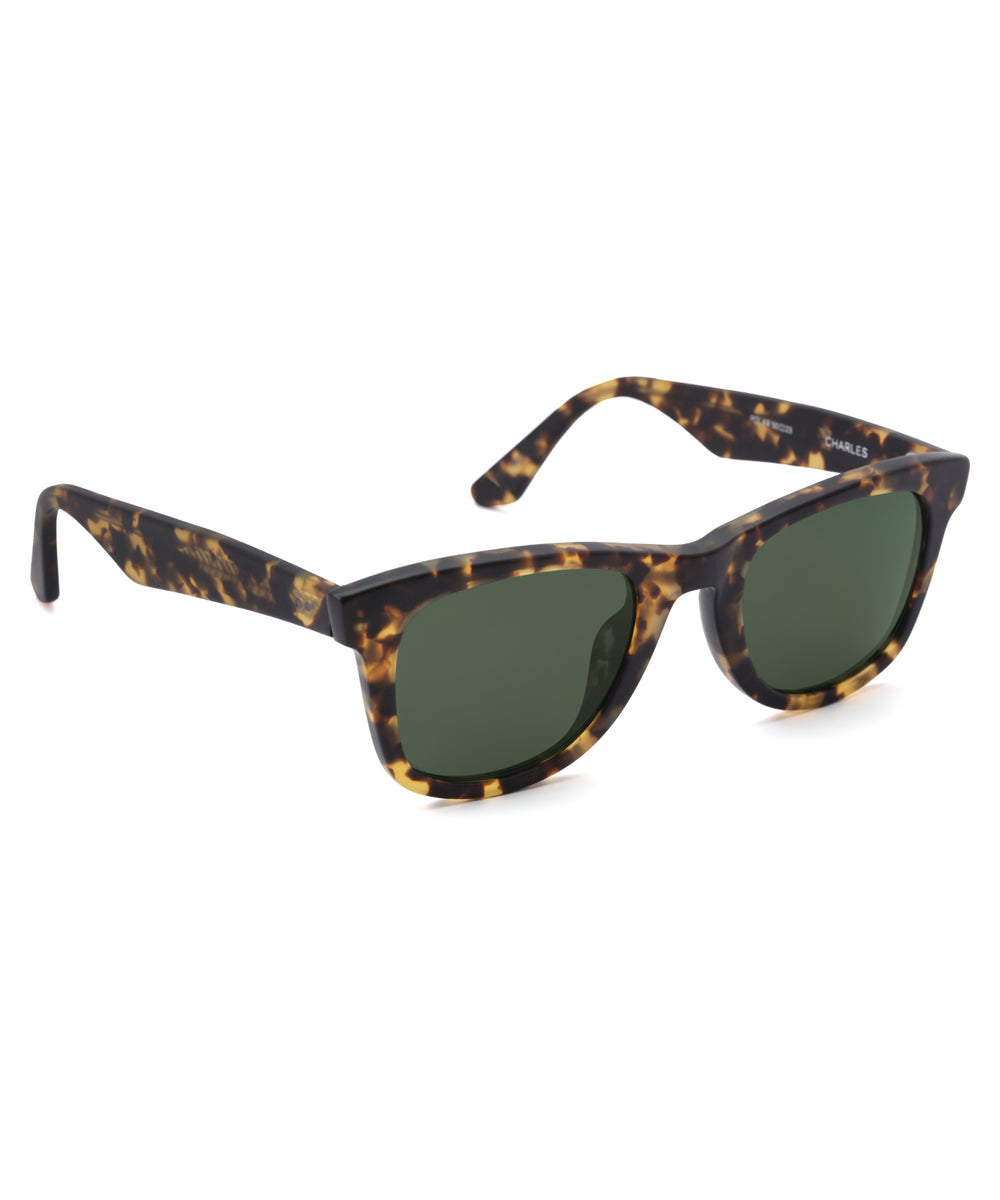 CHARLES | Matte Bengal Polarized Handcrafted, Acetate Sunglasses