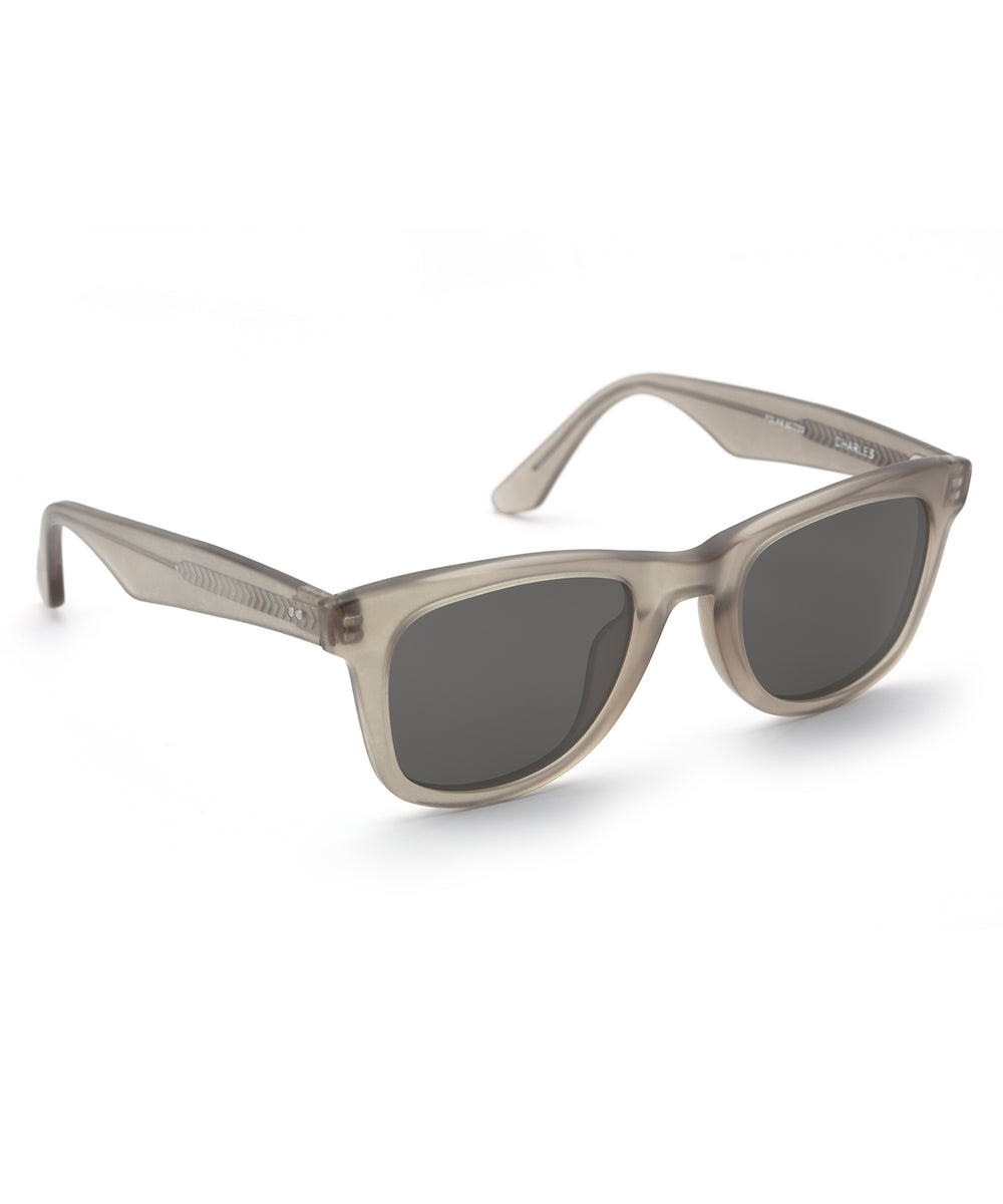 CHARLES | Matte Brume Polarized Handcrafted, Acetate Sunglasses
