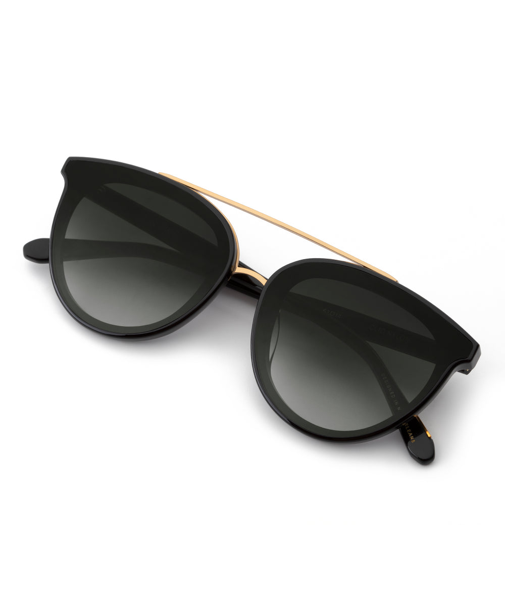CLIO NYLON | Black + Shadow Handcrafted, acetate sunglasses