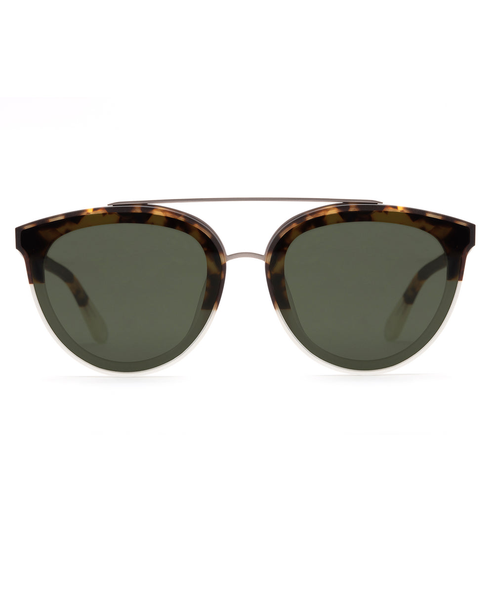 CLIO NYLON | Brindle to Light Crystal Handcrafted, Acetate Sunglasses