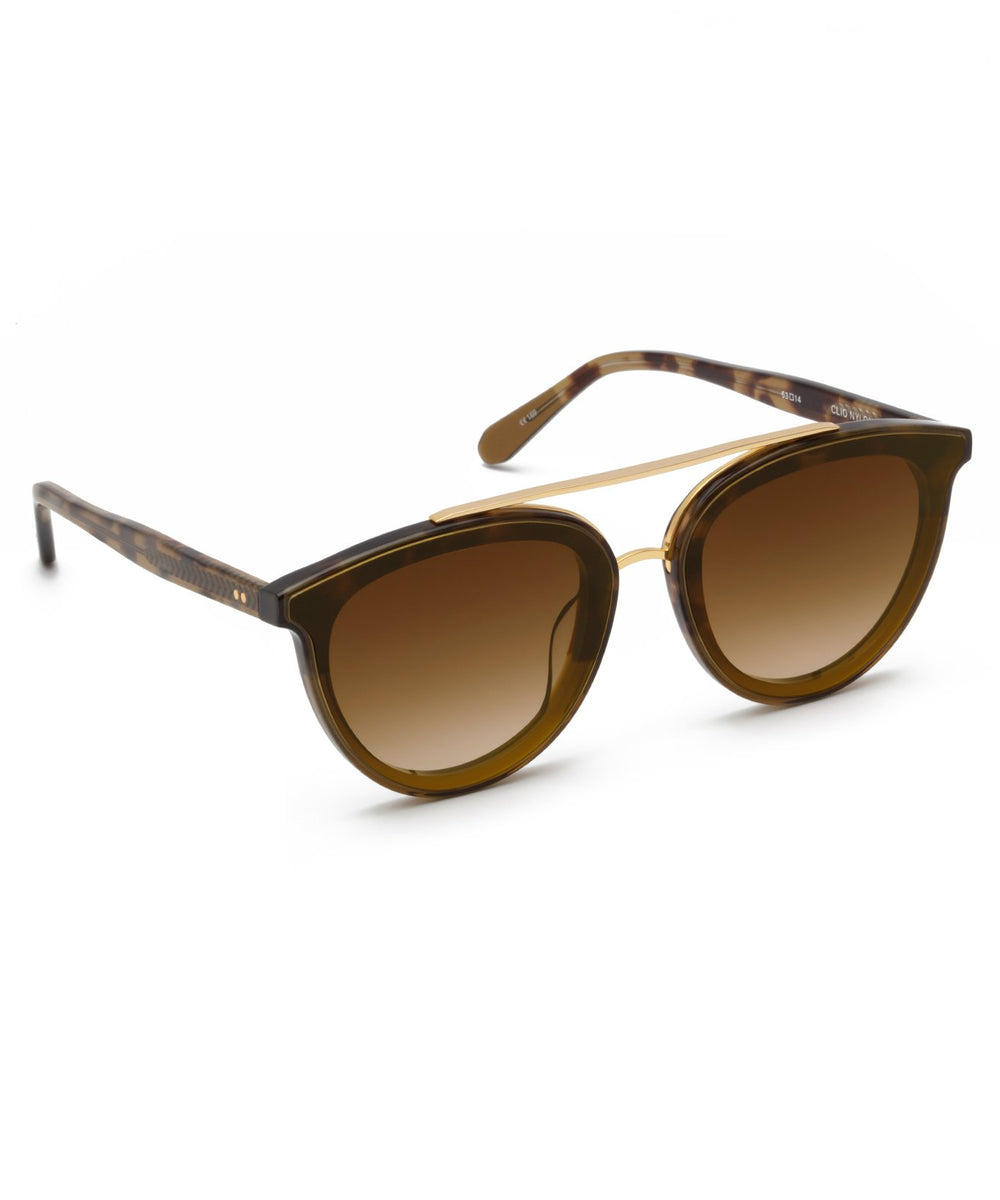 CLIO NYLON | Fennel to Hazel 24K Handcrafted, acetate sunglasses