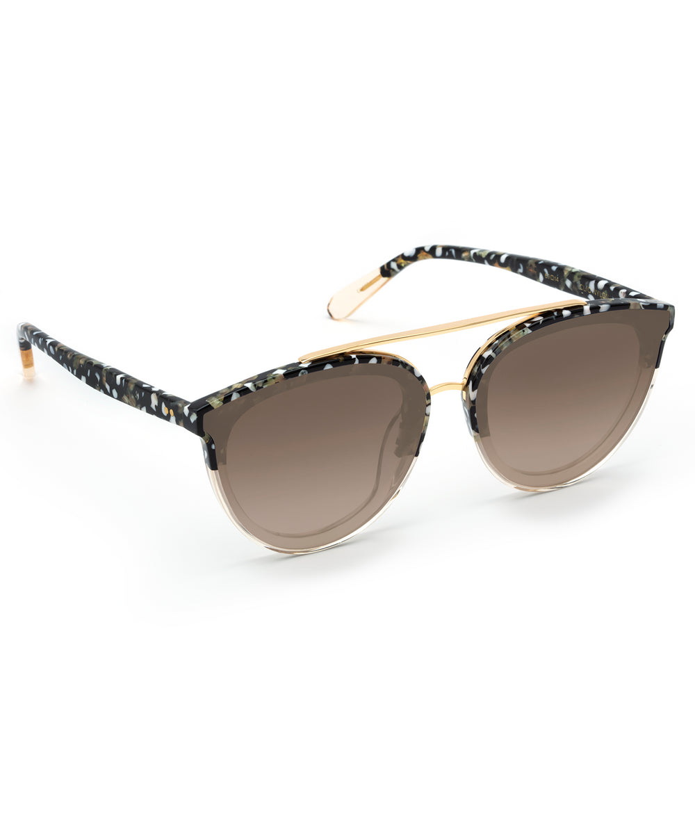 CLIO NYLON | Plume to Champagne Handcrafted, Acetate Sunglasses