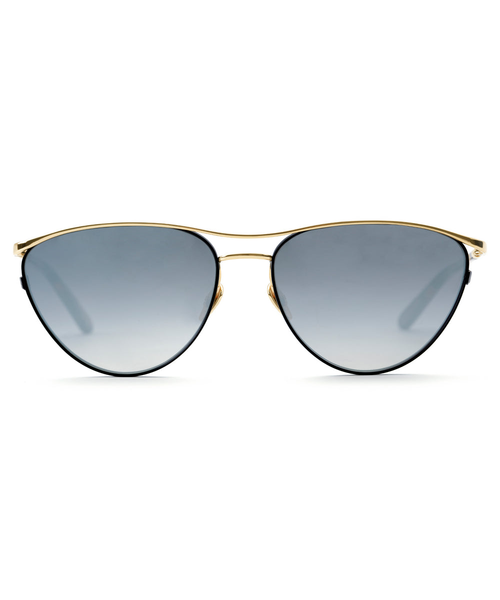 COHN | Matte Black + Honey 24K handcrafted acetate sunglasses