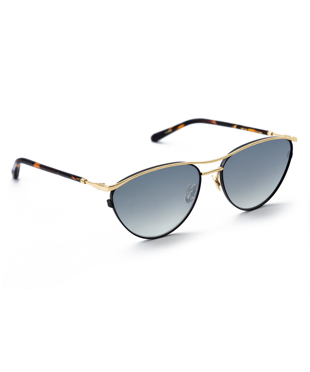 COHN | Matte Black + Honey 24K Handcrafted, Acetate Sunglasses