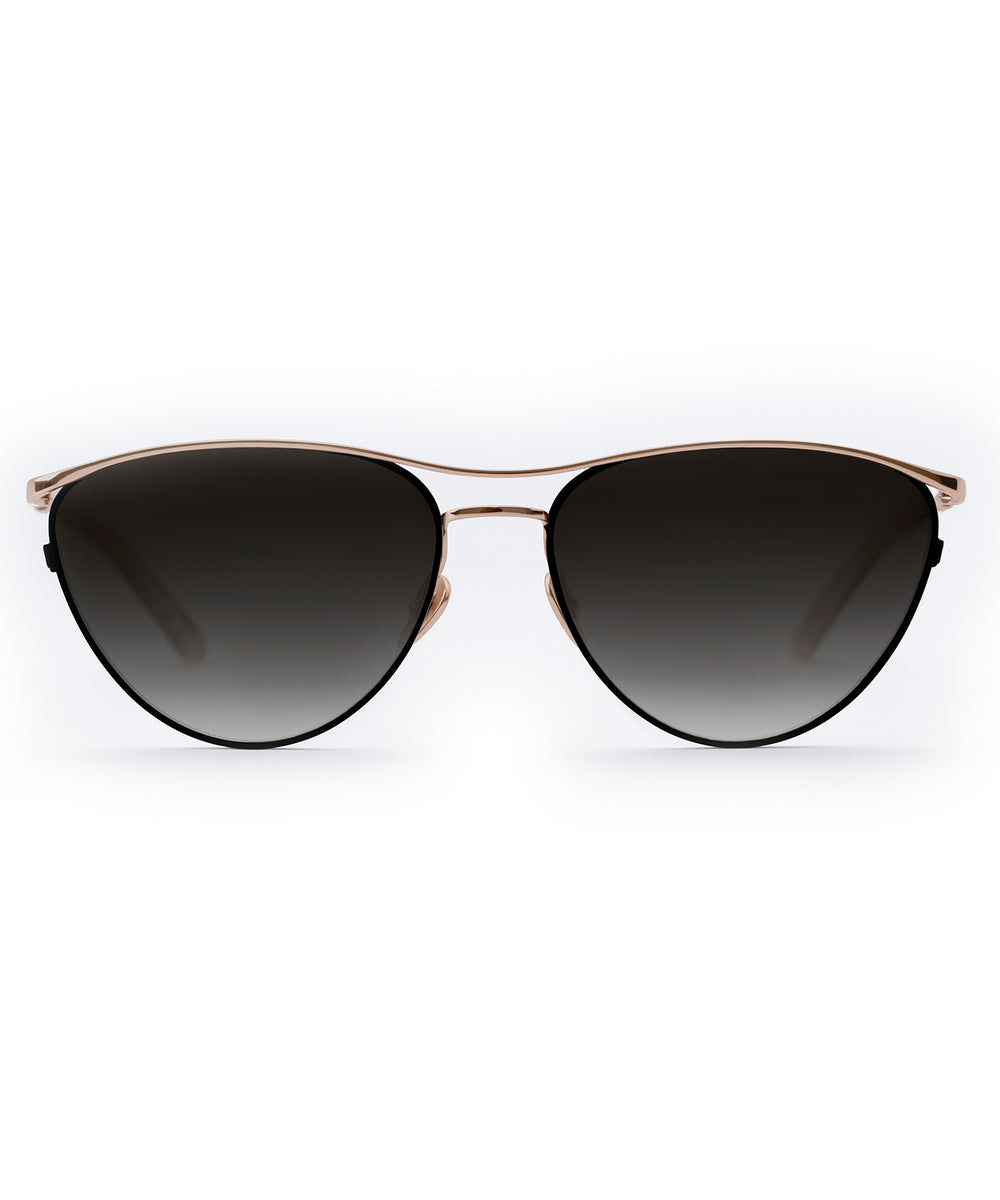 COHN | Matte Black + Mystic Rose Gold Titanium handcrafted acetate sunglasses