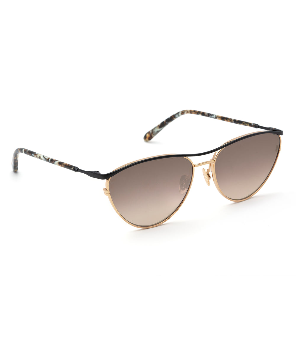 COHN | 24K + Matte Black and Torta Handcrafted, Titanium Sunglasses