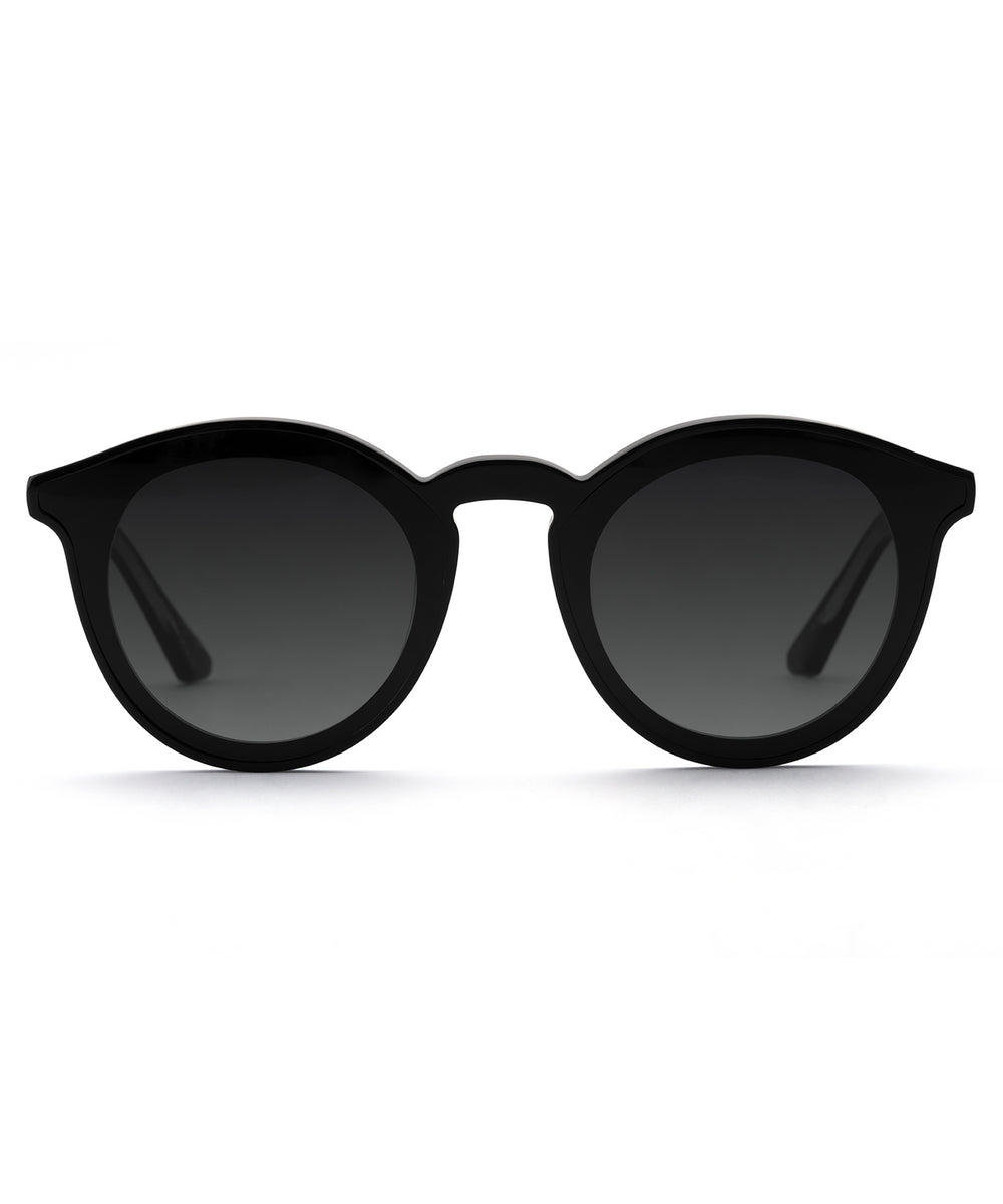 COLLINS NYLON | Black + Black and Crystal handcrafted acetate sunglasses