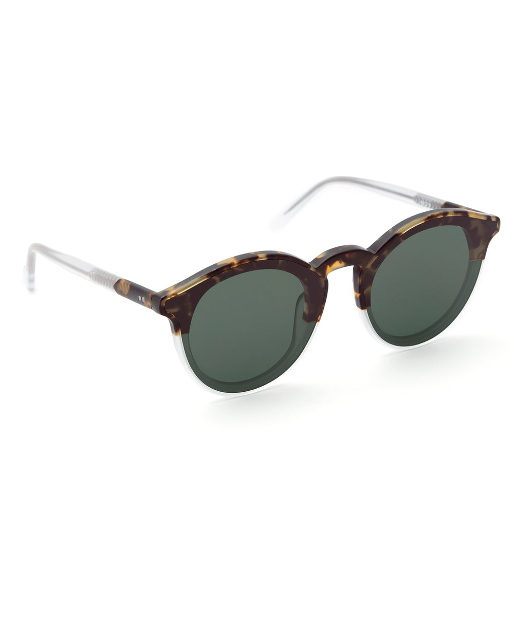 COLLINS NYLON | Matte Bengal to Crystal Handcrafted, Acetate Sunglasses