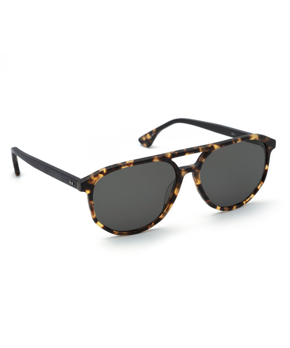 COURT | Matte Bengal to Black Handcrafted, Acetate Sunglasses