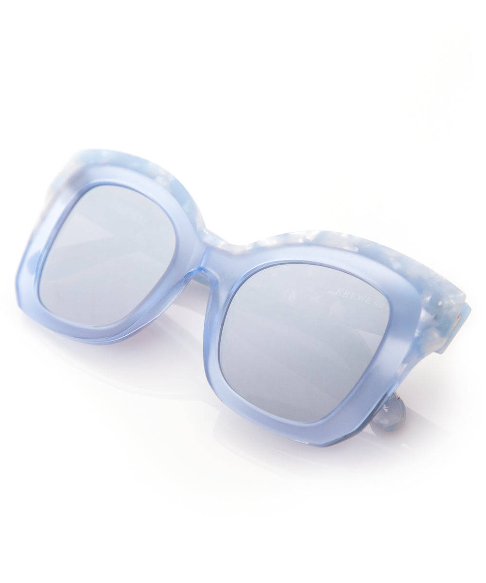 DAUPHINE | Matte Ciel to Blue Crystal | Oversized acetate Sunglasses