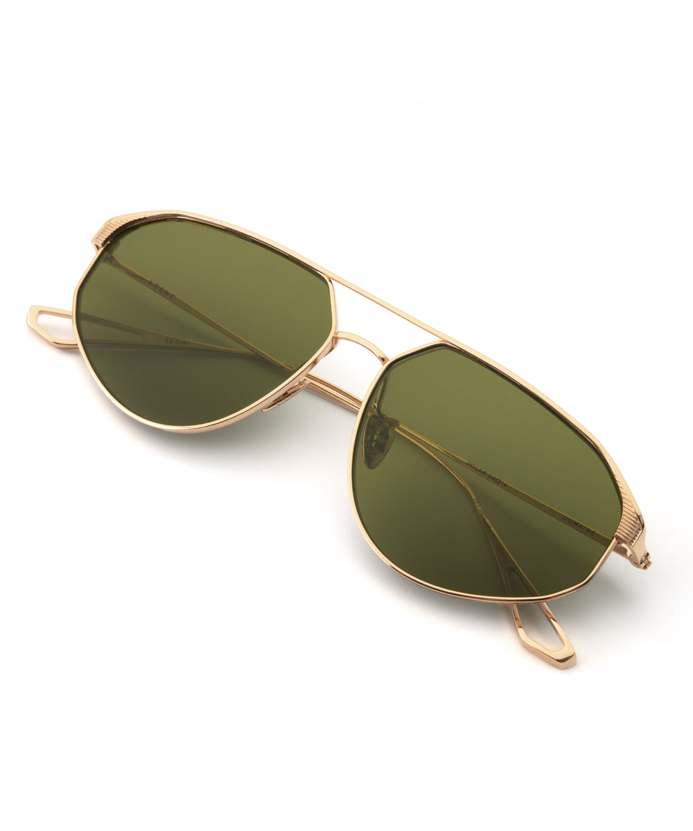 DUMAINE | 18K Titanium Polarized Handcrafted, Titanium Sunglasses
