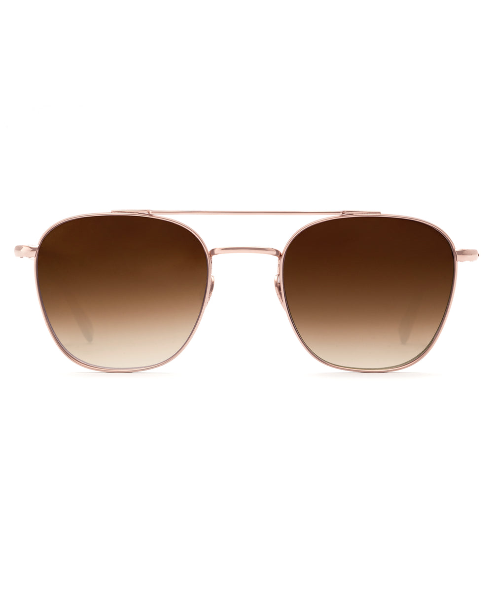 EARHART | Rose Gold Titanium Handcrafted, Acetate Sunglasses