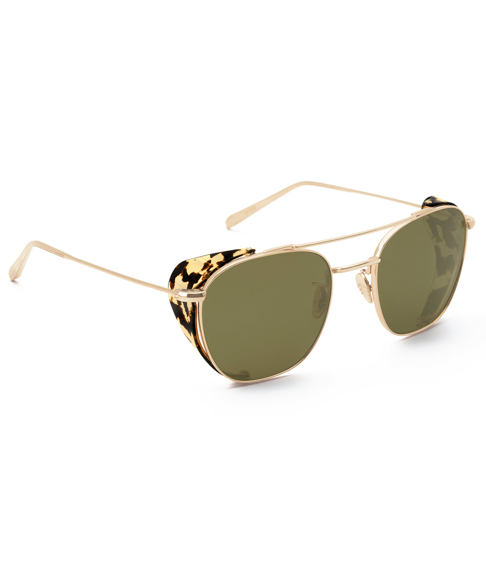 EARHART BLINKER | 24K Titanium + Zulu Polarized Handcrafted, Acetate Sunglasses