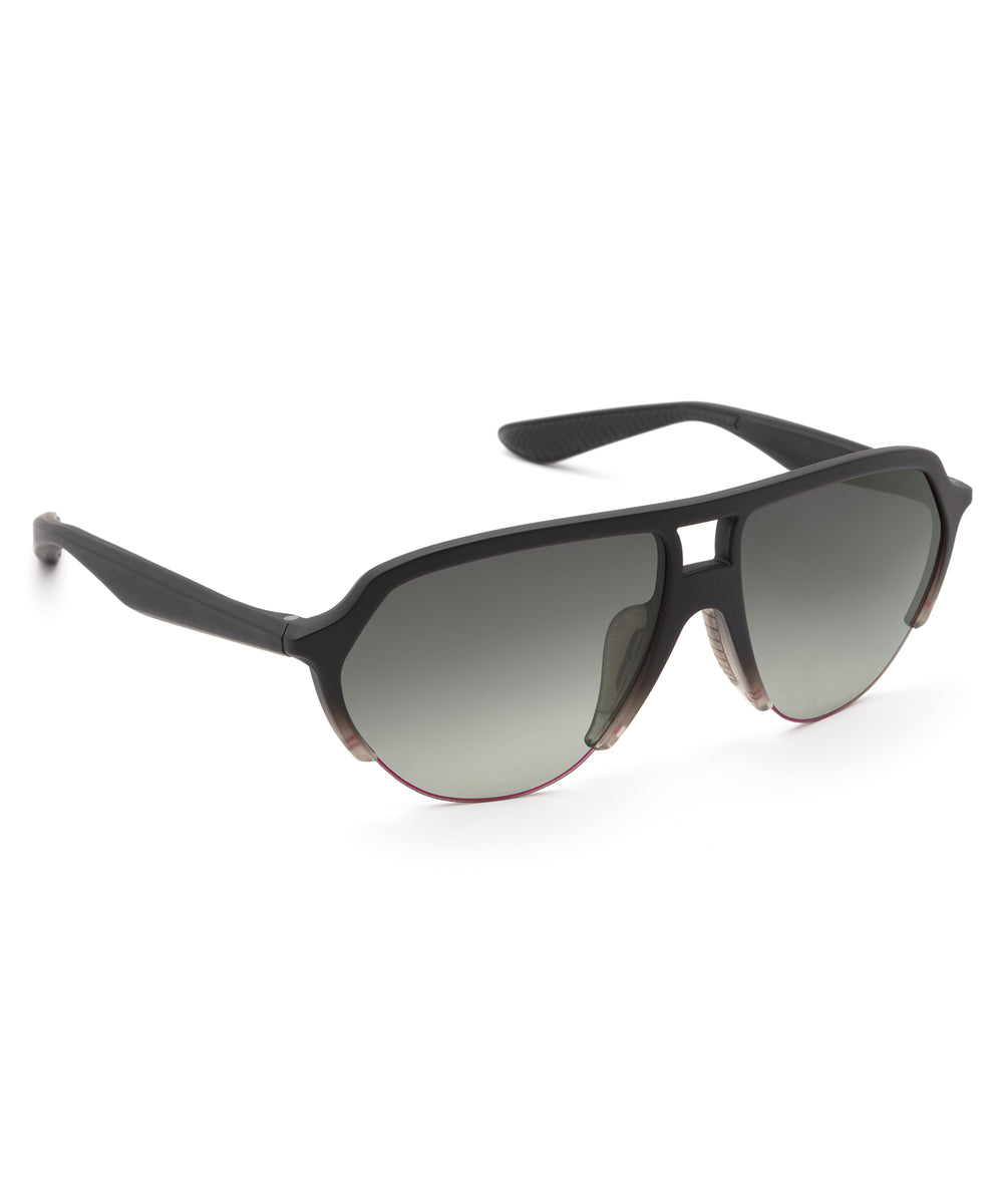 ELLIS NYLON | Matte Black to Mist Polarized Hand-Painted, Bio-Plastic Sunglasses