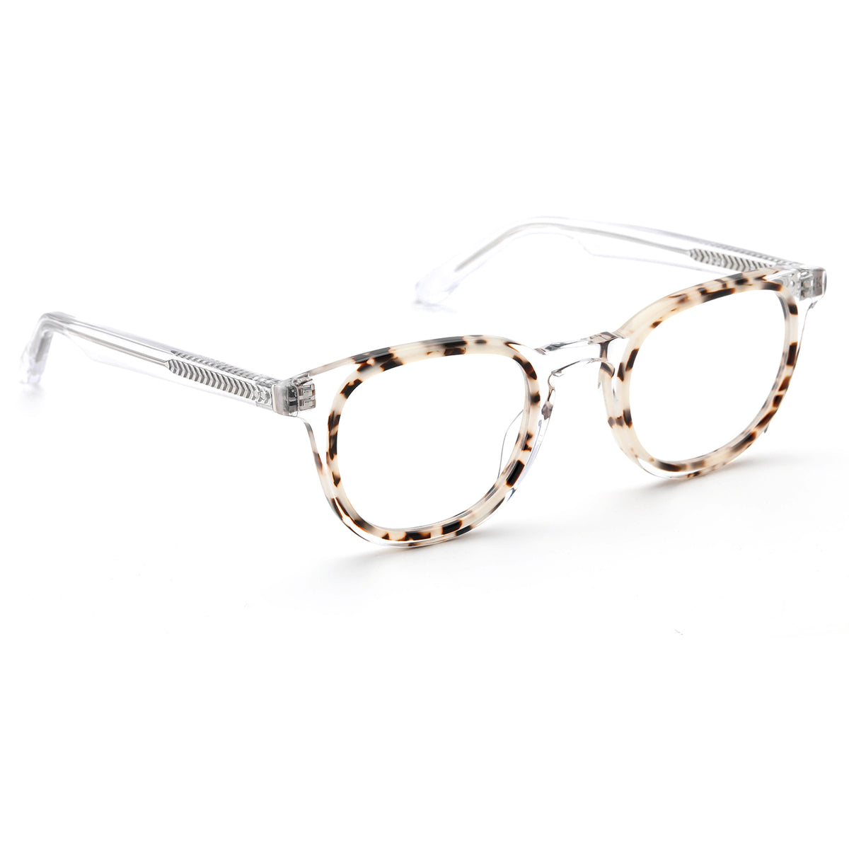 ELM | Crystal to Oyster  - handcrafted acetate eyewear with nylon lenses