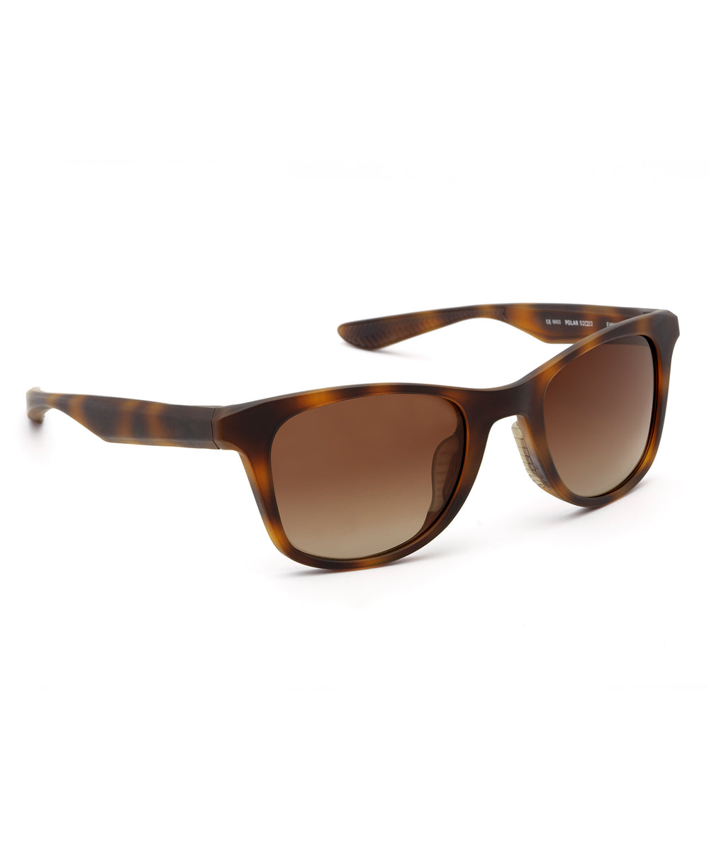 EMMETT | Matte Bay Tortoise Polarized Hand-Painted, Bio-Plastic Sunglasses