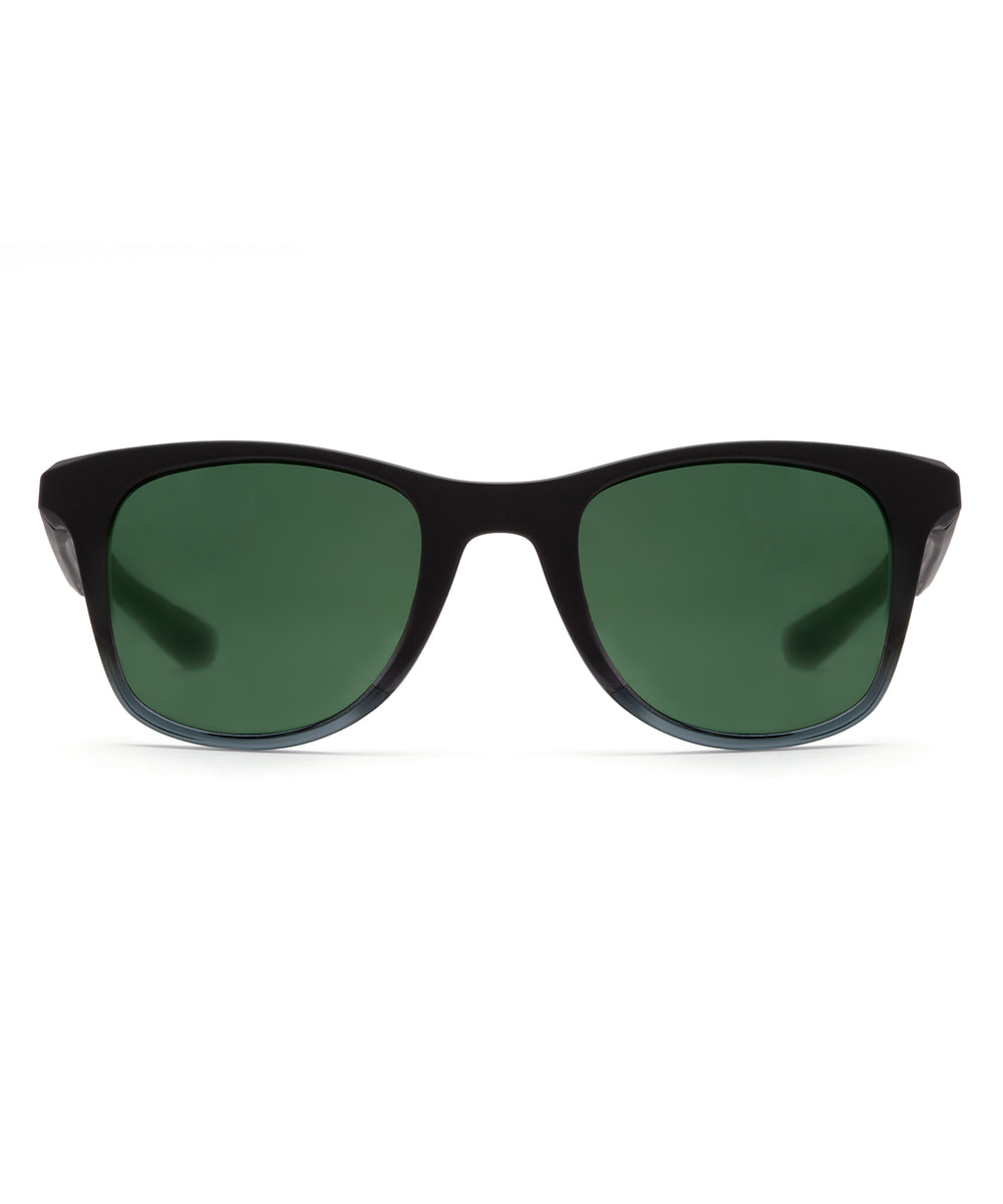 EMMETT | Matte Black to Ice Polarized Hand-Painted, Bio-Plastic Sunglasses