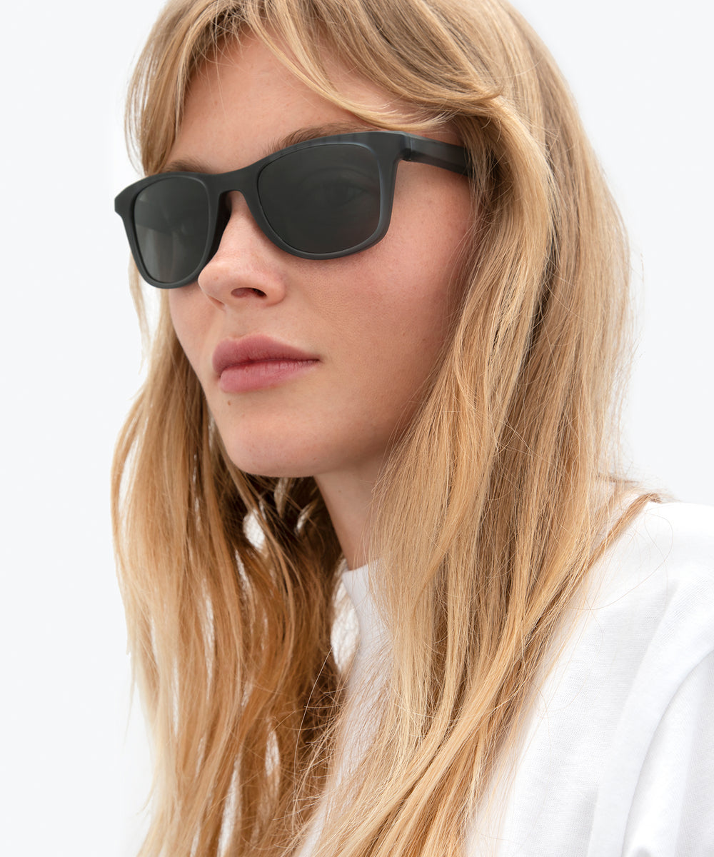 EMMETT | Matte Ice Polarized Hand-Painted, Bio-Plastic Sunglasses | Featured Model | Womens Active | Womens