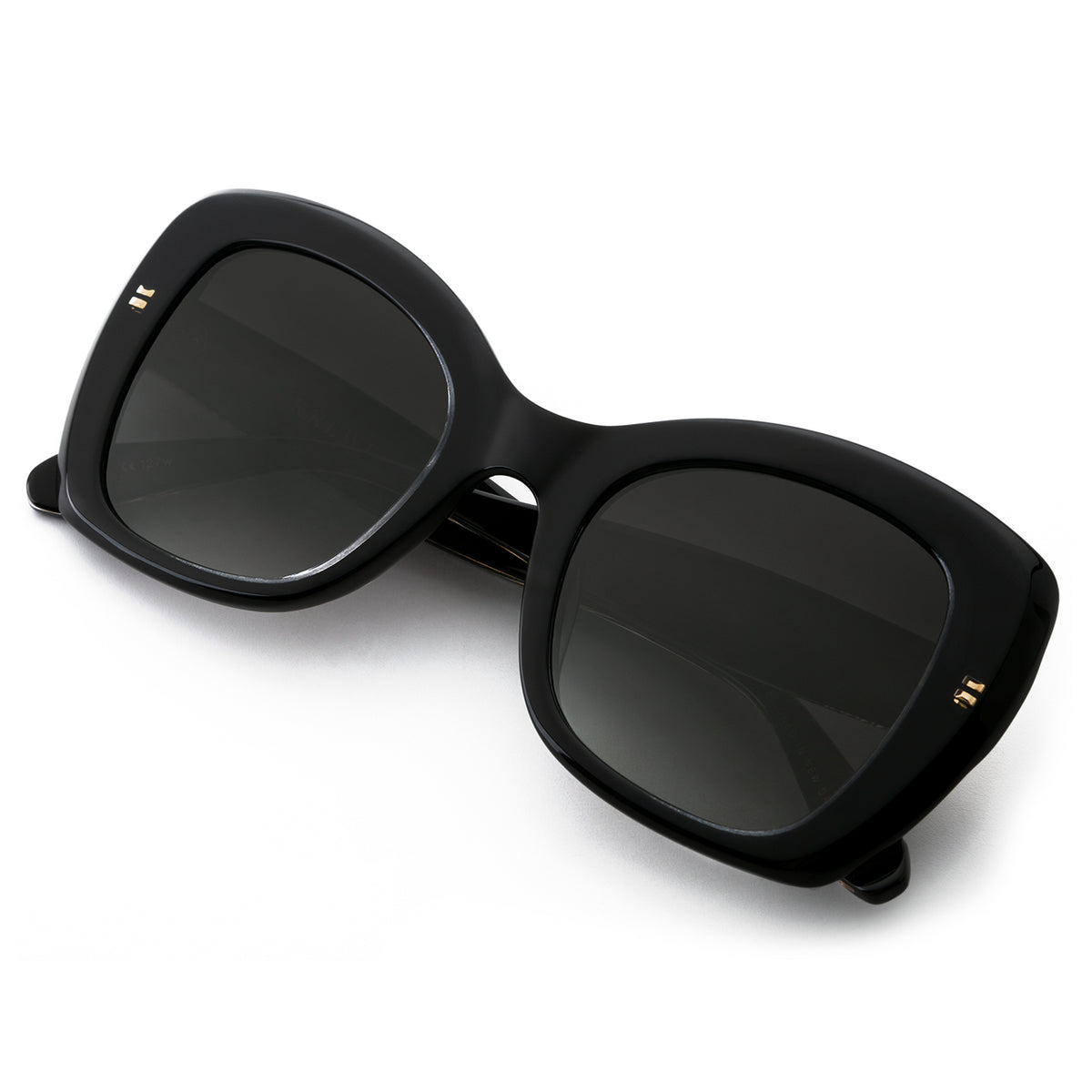 FELICITY | Black and Crystal handcrafted acetate sunglasses