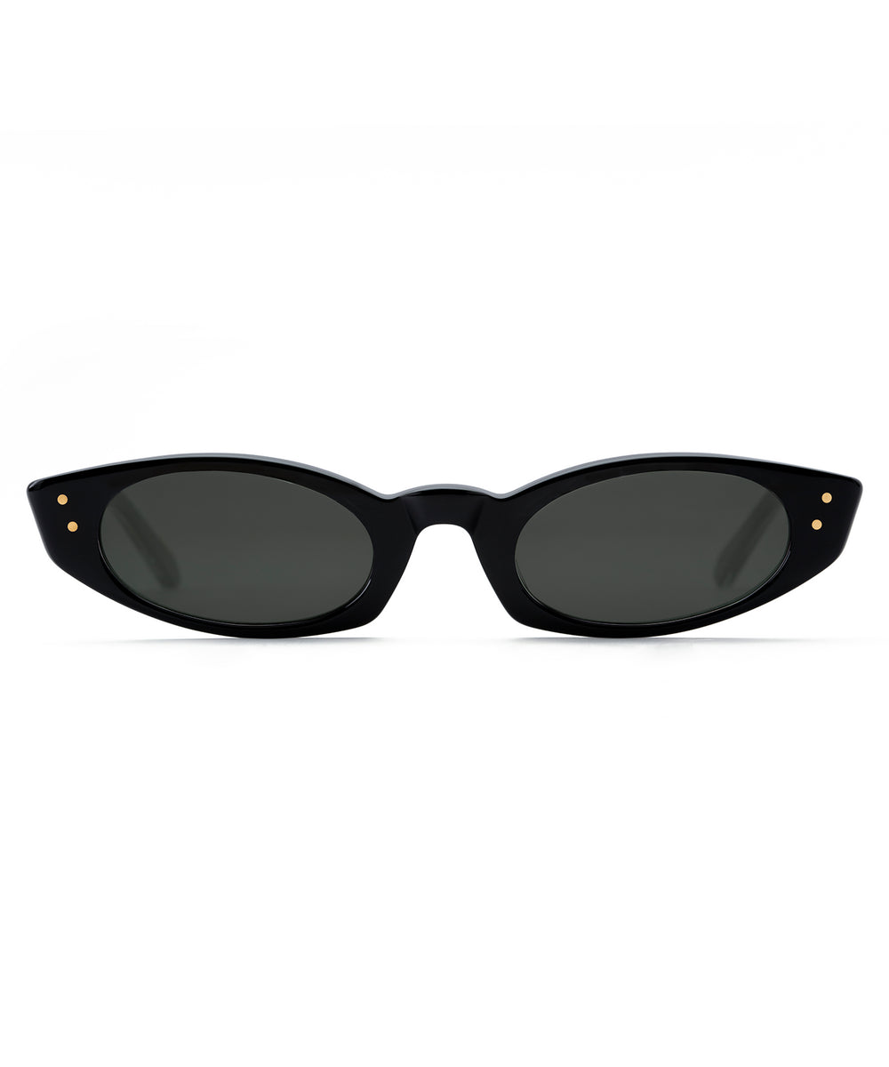 FERN | Black and Crystal + Crystal handcrafted acetate sunglasses