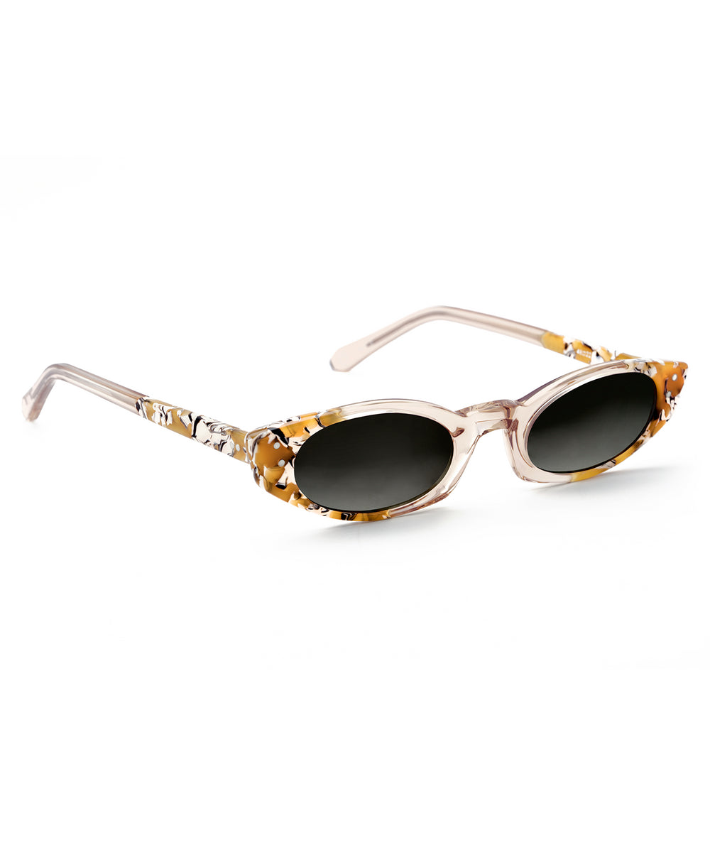 FERN | Buff to Butterscotch handcrafted acetate sunglasses