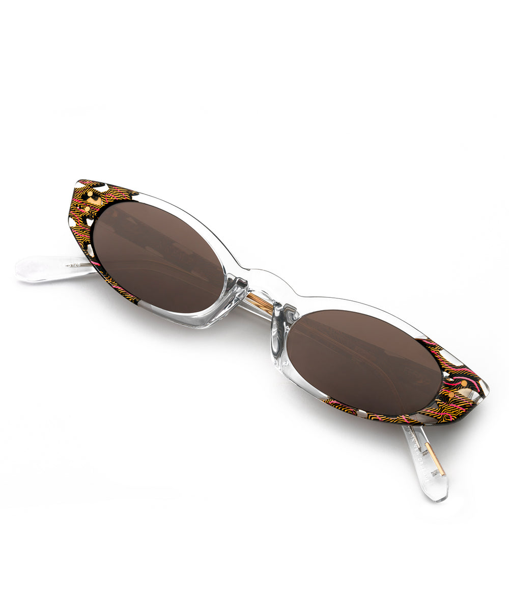 FERN | Crystal to D'oro handcrafted acetate sunglasses