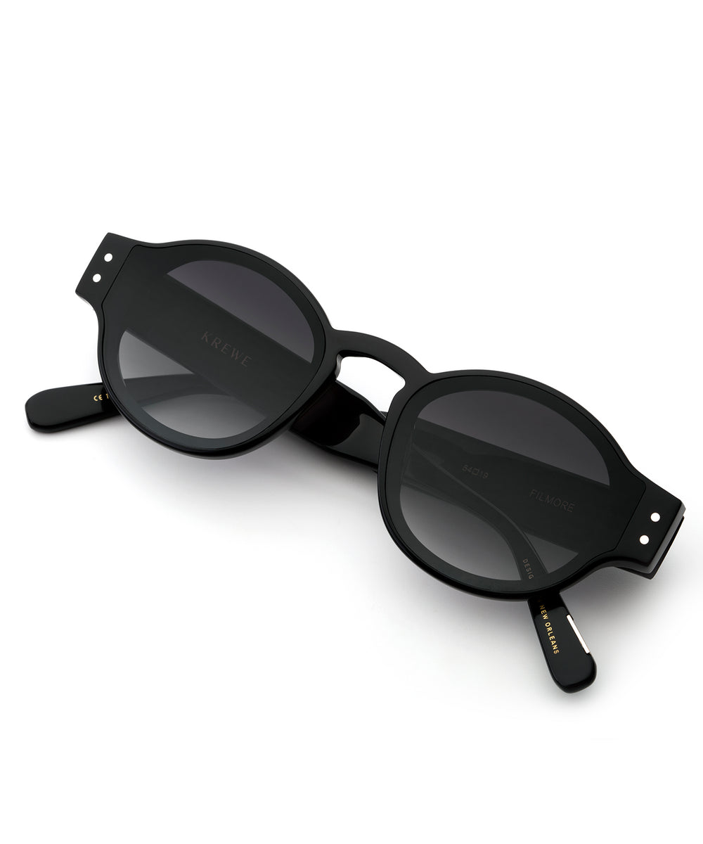 FILMORE NYLON | Black + Shadow Handcrafted, Acetate Sunglasses