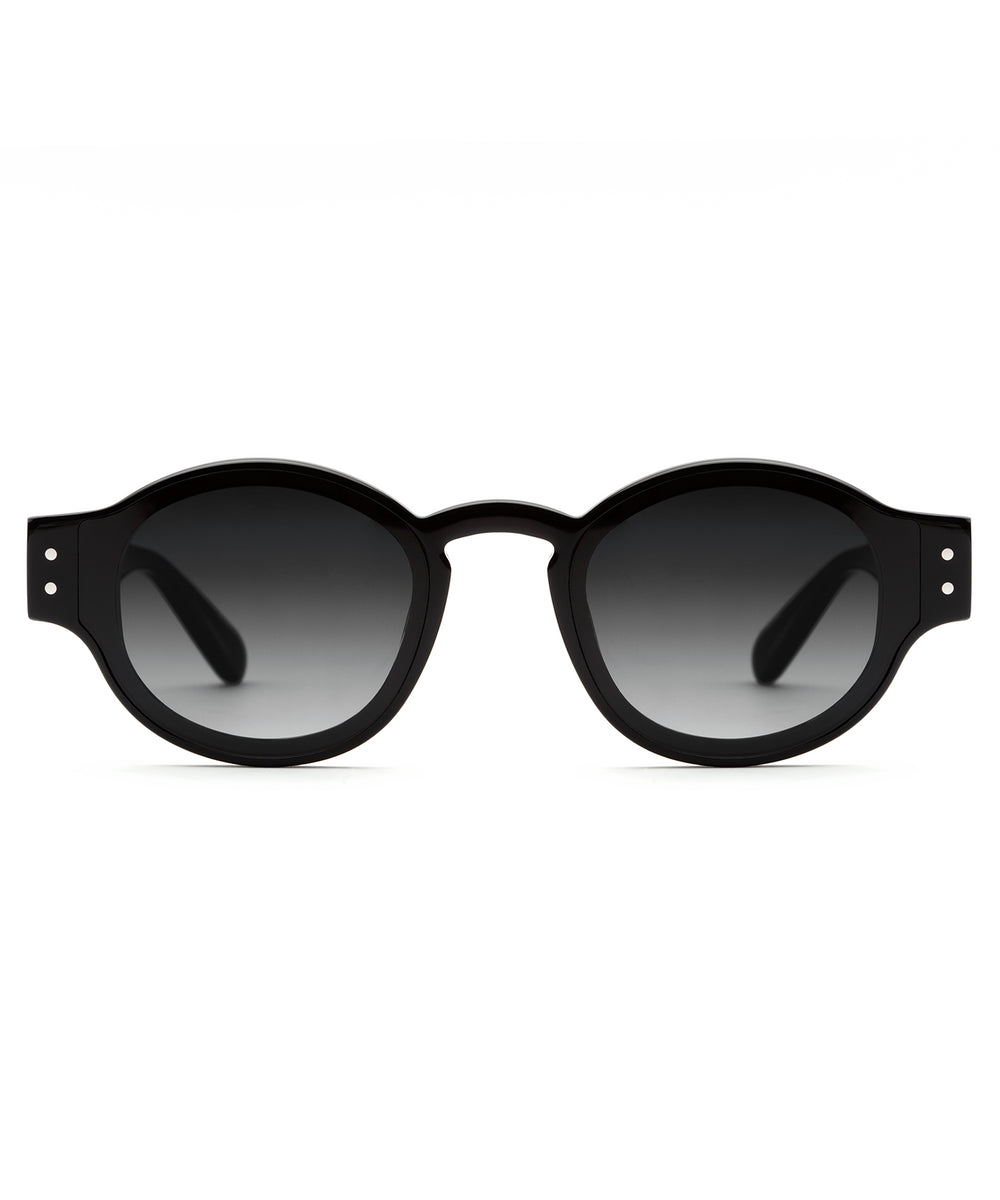 FILMORE NYLON | Black to Black/Crystal/Black Handcrafted, Acetate Sunglasses