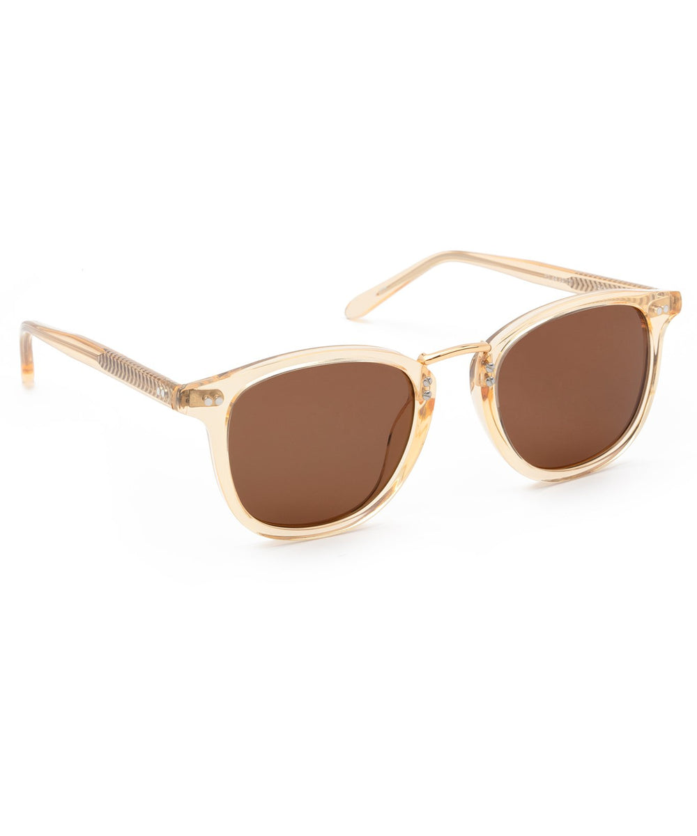 FRANKLIN | Champagne Polarized 24K | Handcrafted acetate sunglasses