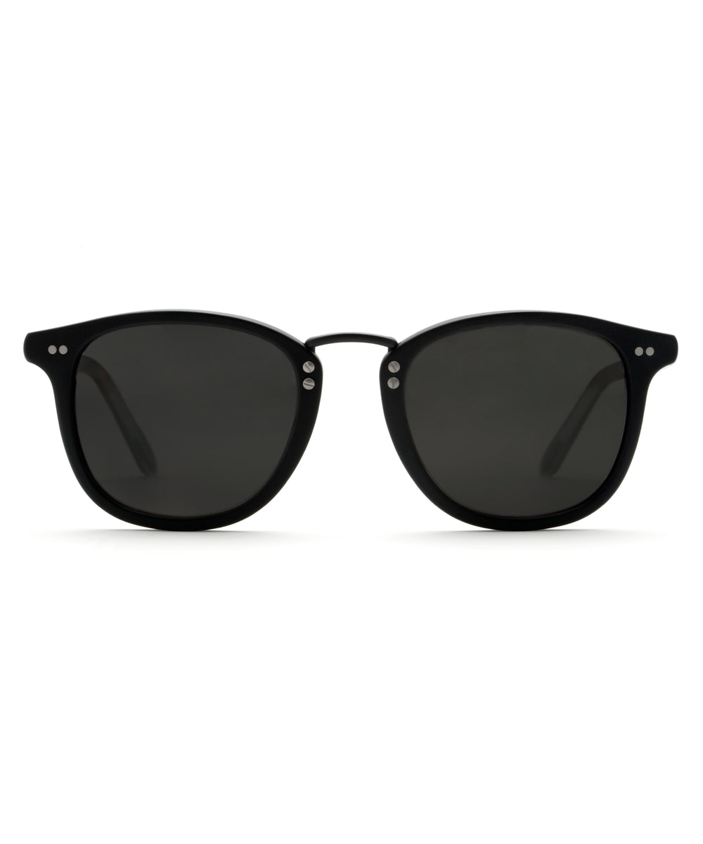 FRANKLIN | Matte Black - handcrafted acetate eyewear
