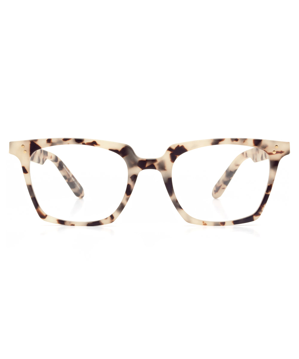 HOWARD | Matte Oyster | Handcrafted acetate Optical frames.