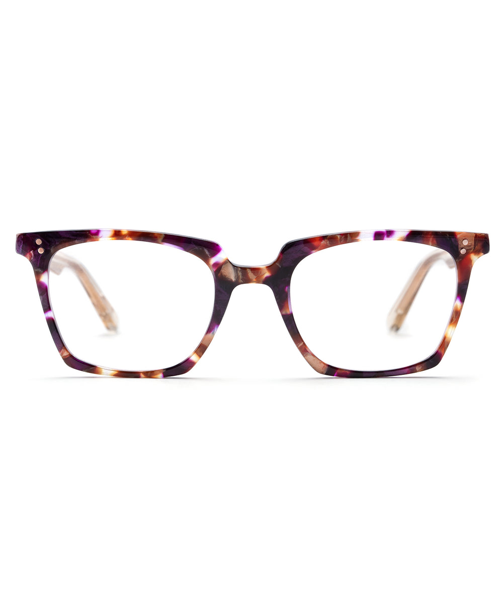 HOWARD | Stardust + Buff Rose Gold handcrafted acetate eyewear