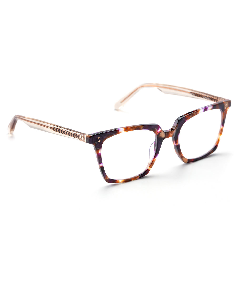 HOWARD | Stardust + Buff Rose Gold Handcrafted, Acetate Frames