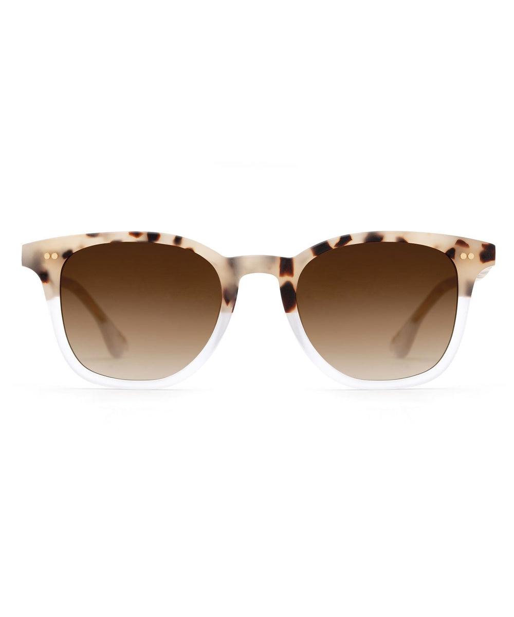 HOWELL | Matte Oyster to Crystal Handcrafted, acetate sunglasses