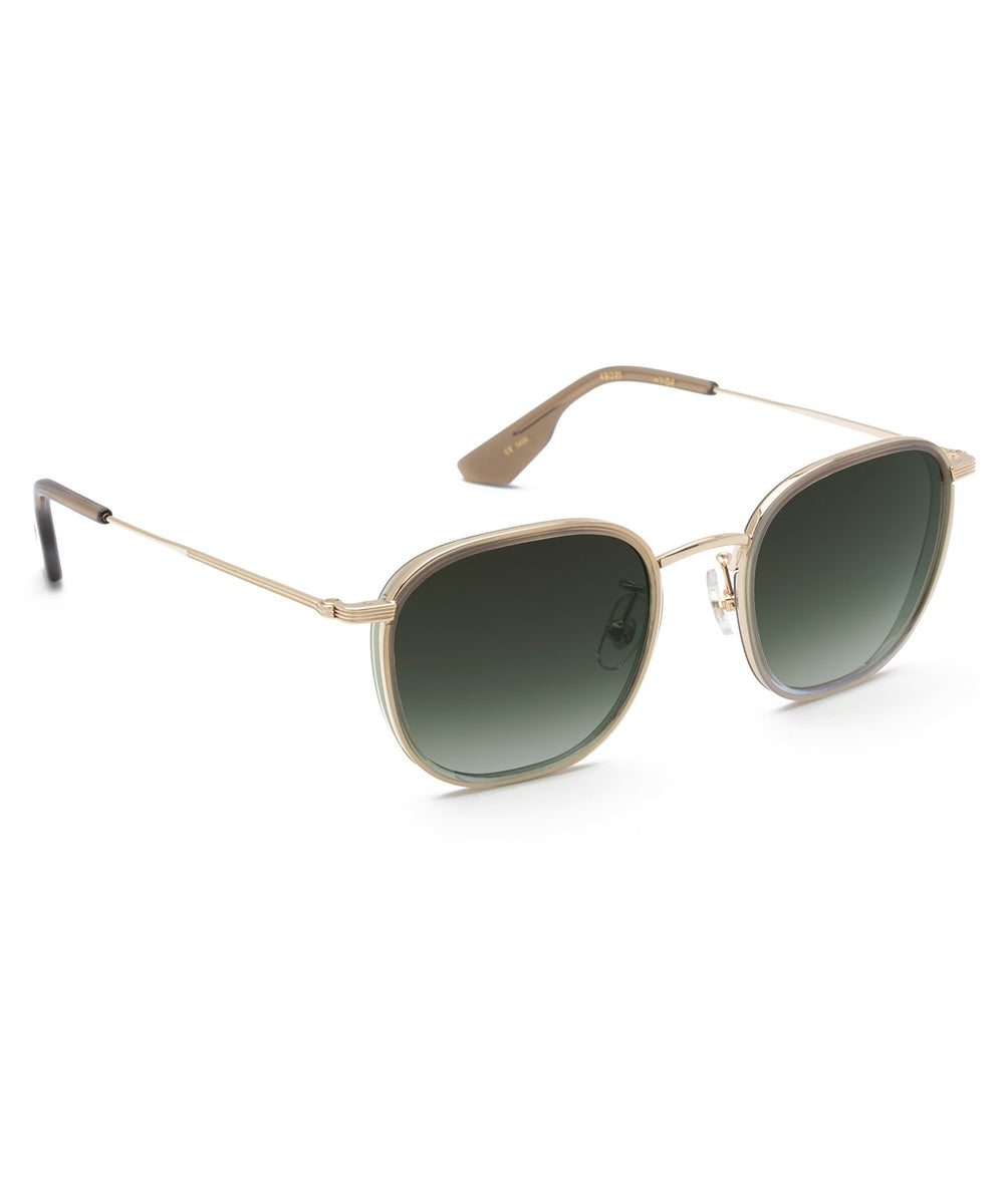 HYDE | 12K + Matcha + Pine Handcrafted, stainless steel sunglasses