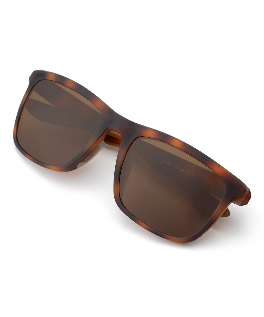 ISLE | Matte Bay Tortoise Polarized Hand-Painted, Bio-Plastic Sunglasses