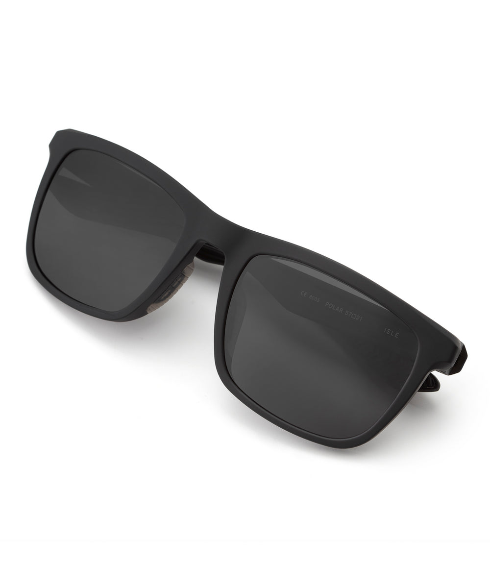 ISLE | Matte Black Polarized Hand-Painted, Bio-Plastic Sunglasses