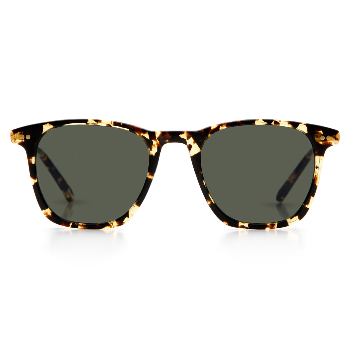 JACKSON | Zulu + 24K Titanium Polarized merged with acetate for a modern, premium version of classic wayfarer Sunglasses.