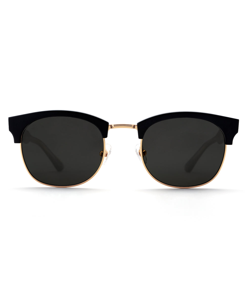 LGD | Matte Black and Crystal 24K handcrafted acetate sunglasses
