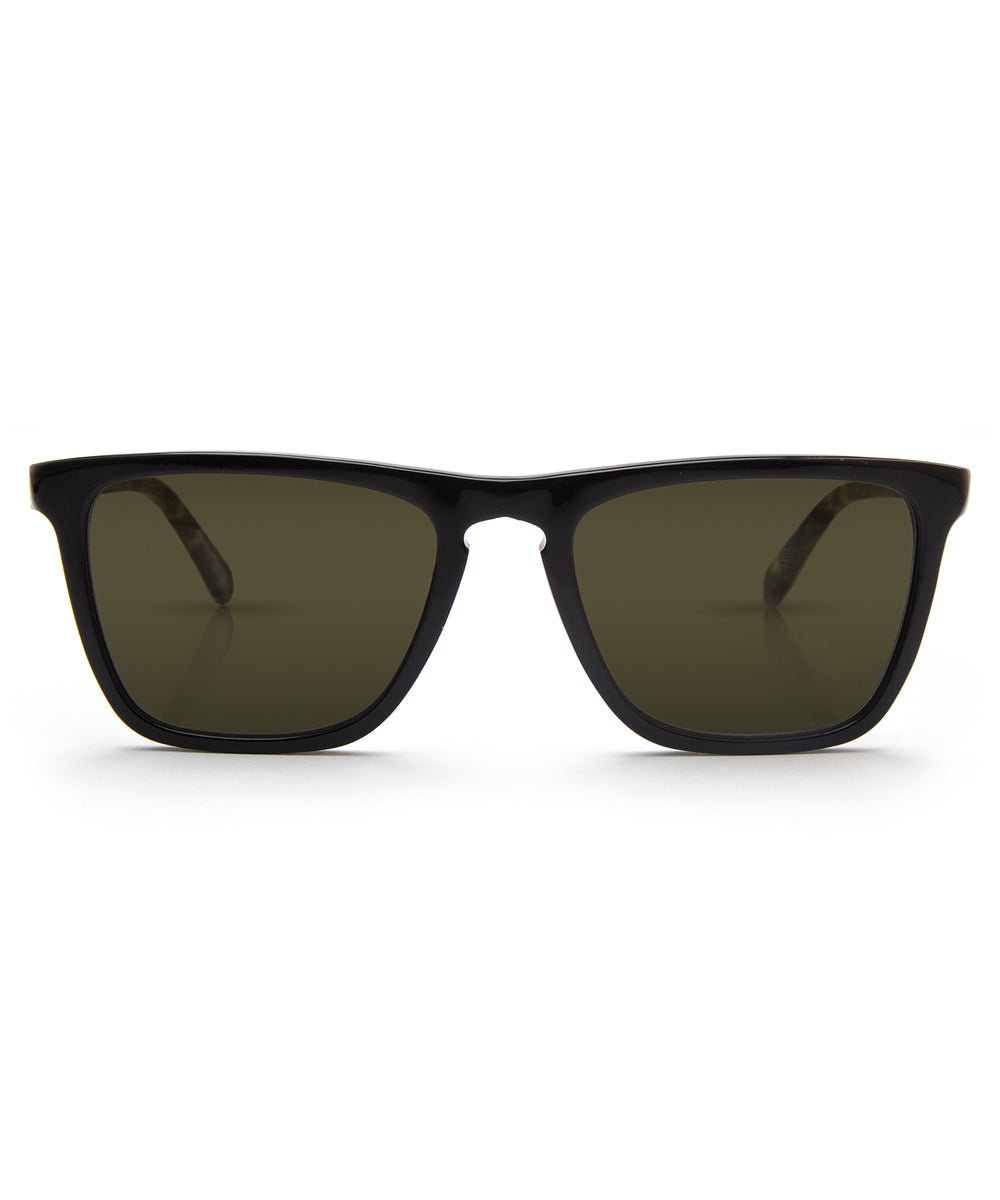 LAFITTE | Black + Absinthe Polarized Handcrafted, Acetate Sunglasses