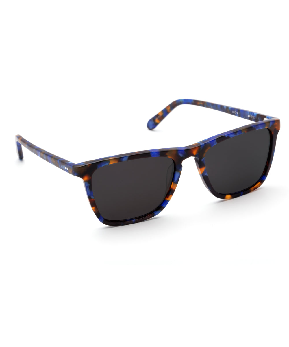 LAFITTE | Matte Blue Steel Handcrafted, Acetate Sunglasses