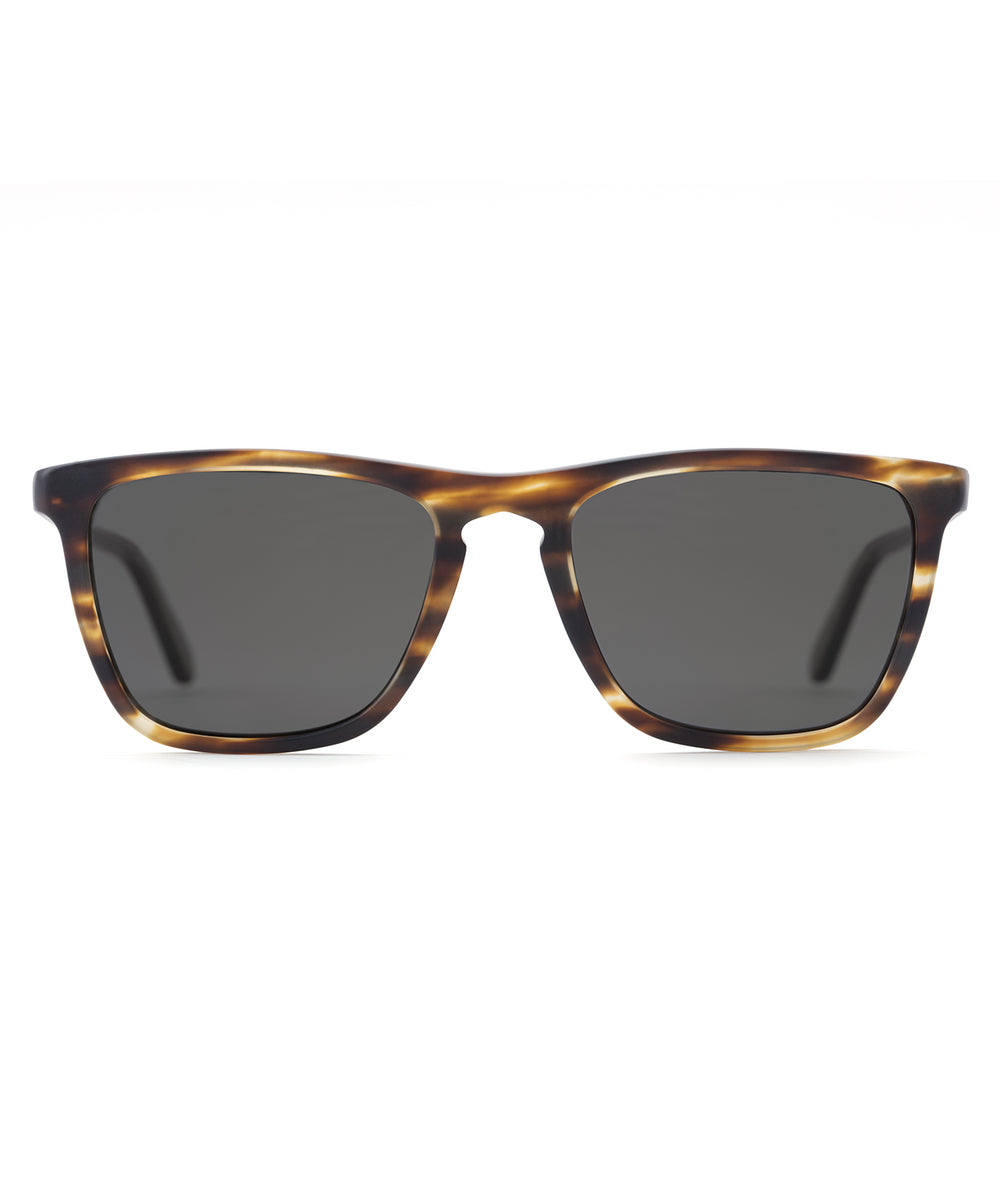 LAFITTE | Matte Oak + Matte Hunter Polarized Handcrafted, Acetate Sunglasses