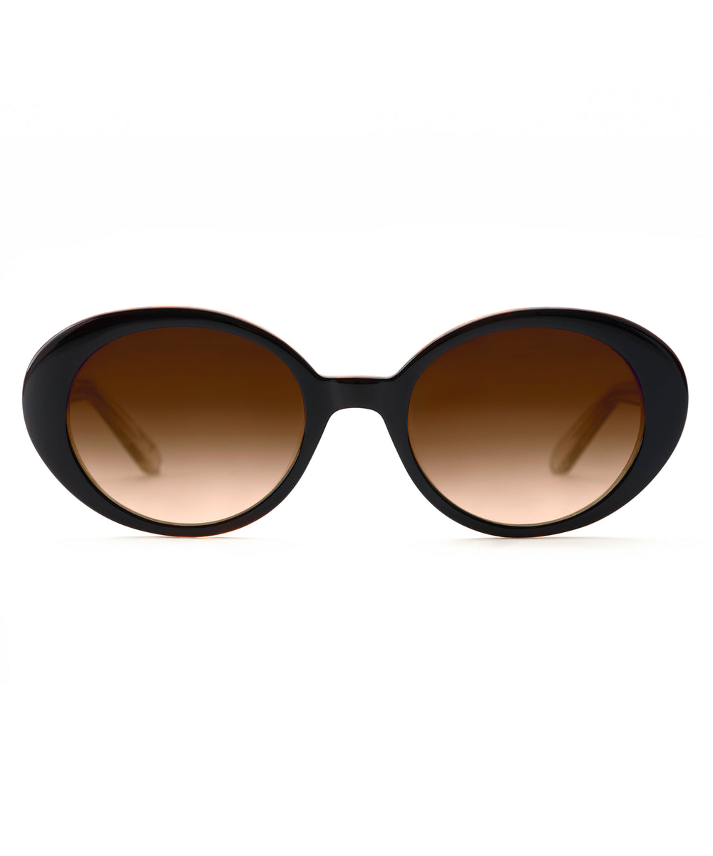 LAUREL | Black + Buff handcrafted acetate sunglasses