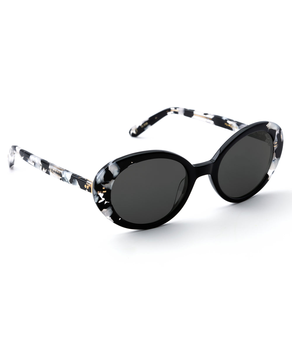LAUREL | Black to Interstellar Polarized handcrafted acetate sunglasses