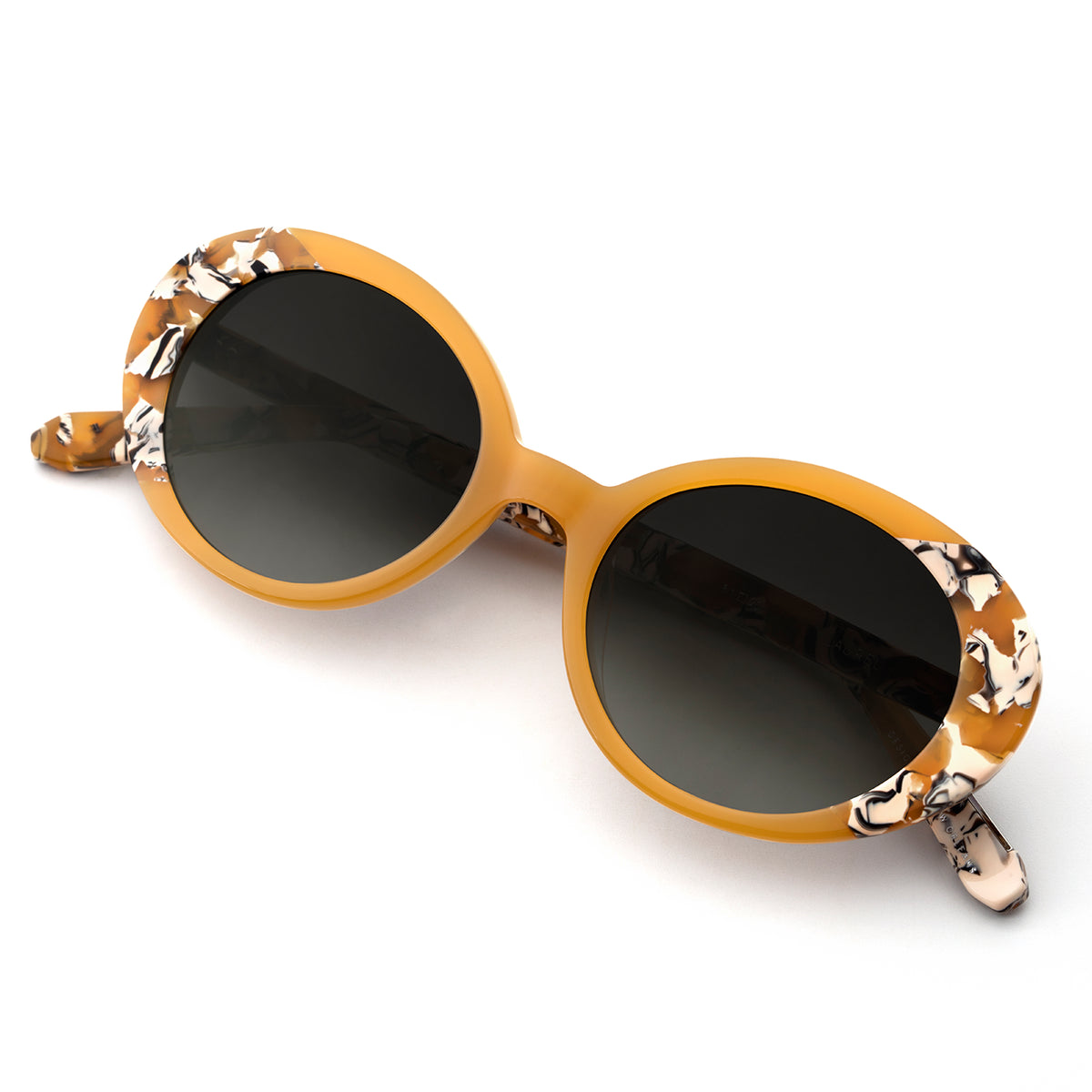 LAUREL | Brulee to Butterscotch handcrafted acetate sunglasses