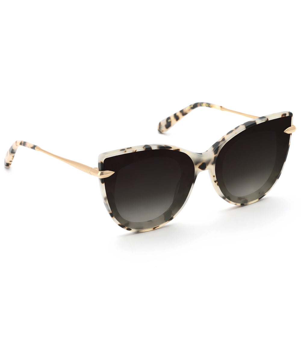 LAVEAU NYLON | Matte Oyster 24K - handcrafted acetate eyewear with nylon lenses