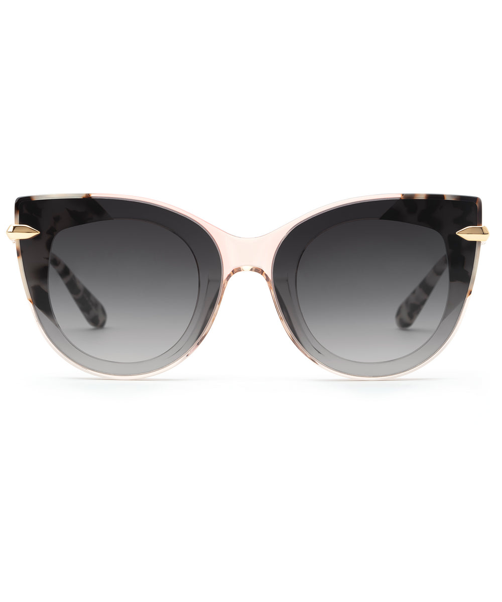 LAVEAU NYLON|Petal to Oyster 24K Handcrafted, Acetate Sunglasses