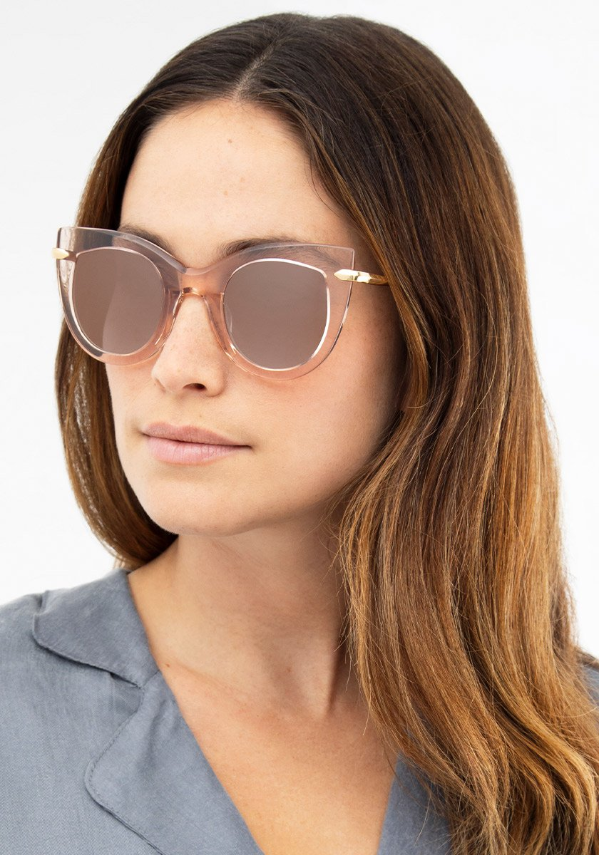 LAVEAU | Petal 24K Mirrored Handcrafted, Acetate Sunglasses