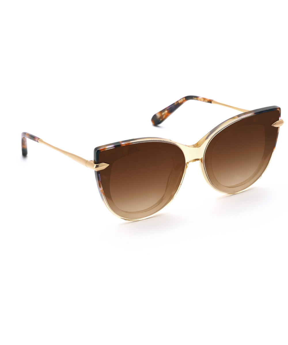LAVEAU NYLON | Champagne to Stardust 24K - handcrafted acetete eyewear with nylon lenses